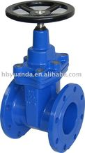 Non rising stem soft seated gate valve/DIN resilient seated gate valve/ Rubber sealed gate valve/ rubber wedge gate valve