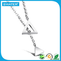 Beauty Jewelry Fashion Silver Triangle Accessories For Women Necklace