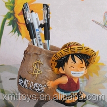 Resin pen container with Monkey D Luffy Figurine