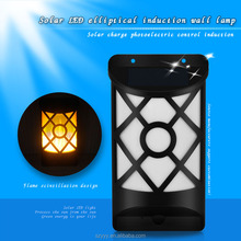 Solar Lights,Path Dancing Flame Lighting 66 LED Dusk to Dawn Flickering Outdoor Waterproof Fence garden wall lights