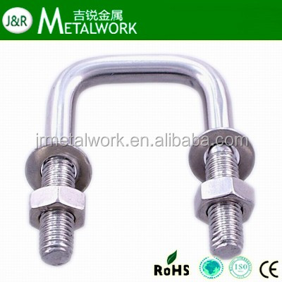 M10 M12 m16 M20 m24 Galvanized u bout and nut with washer