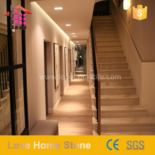 Different Models of beige marble stairs for wholesales