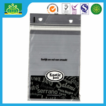 print clear LDPE tape closure bag with block header
