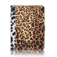 leopard leather case for ipad mini 4, for ipad mini 4 Flip stand PU case