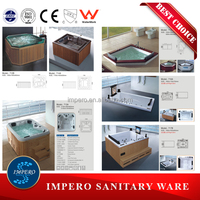 New design indoor portable massage bathtub,embedded massage bathtub price