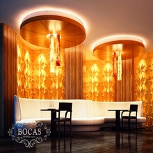 Eco Friendly Wall High Quality Wall Paper looks Bamboo Fiber Wall Panel