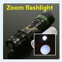 NEW cree led zoom flashlight mechanically powered flashlight