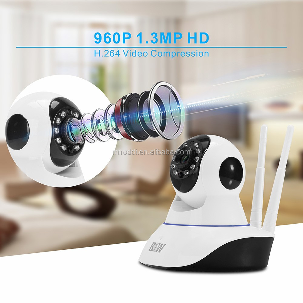 Hisilicon chipset HD 720P 960P P2P wifi PTZ IP Camera phone app control