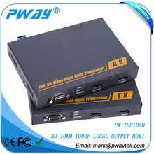 Transmits HDMI Over Fiber Optic Cable With 1080P VGA To HDMI Converter