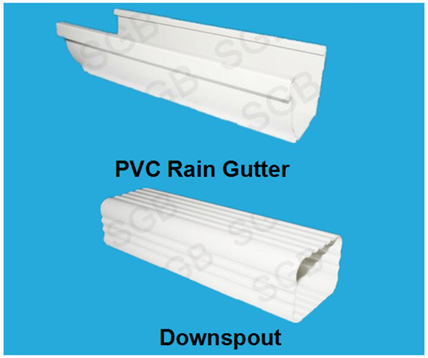 2015 New Products Plastic Square Rain Gutter System With