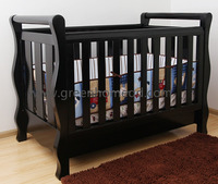 Wooden baby cot with Australia AS/NZS 2172