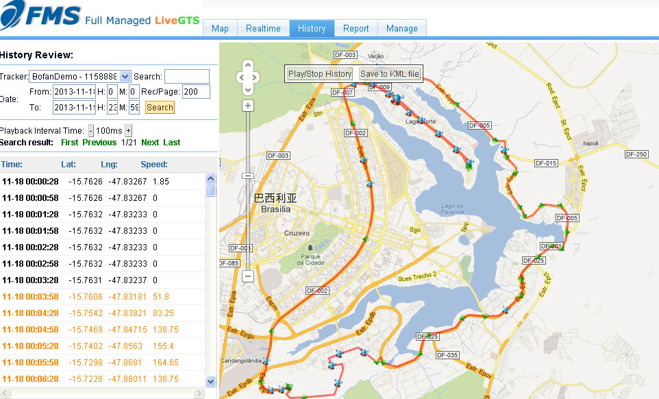 auto data car gps software with regular report and real time tracking