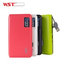 2017 WST Colorful 10000mah universal portable power bank manufacturer,supplier