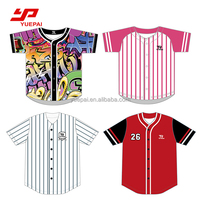 Wholesale custom sublimation digital printing blank baseball jersey