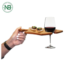 New design curved puzzle platter shaped bamboo wine stable serving tray