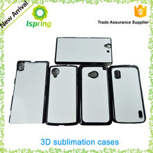 high quality 2d sublimation mobile phone blank pc + aluminum case accept customize for iphone 6 / 7