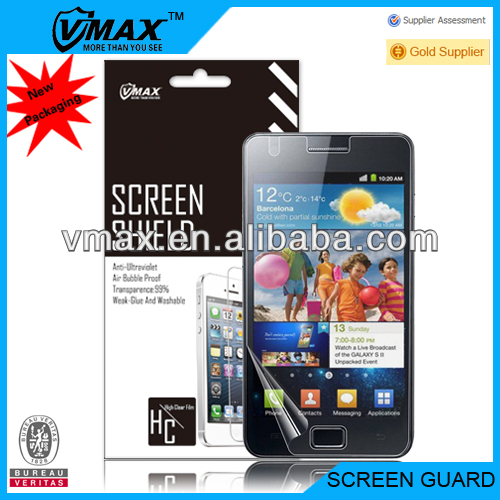 For Samsung galaxy s2 i9100 mirror screen protector oem/odm