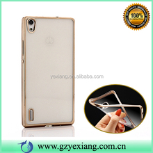 Luxury Electroplate TPU Slim Case Cover For Huawei P6 Protective Case