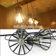 Hot Sale Antique Style Suspended LED Hanging Lamp Dimmable LED Pendant Light with E14 Lamp Holder and Edison Bulb for Restaurant