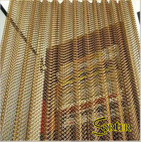 Flexible Metal Drapery Curtain Wire Mesh Curtain Room Divider