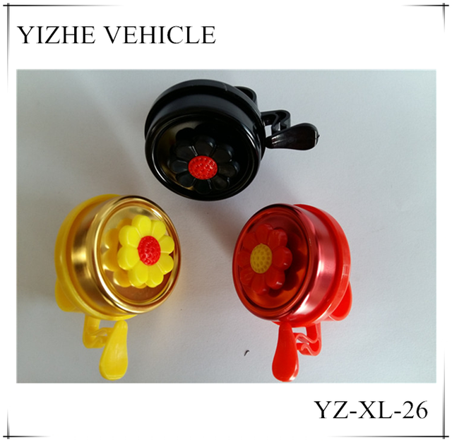 Metal bicycle bell horn/Beautiful bike bell with flower