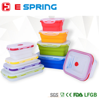 COLLAPSIBLE FOLDING COMPACT silicone lunch box FOOD STORAGE CONTAINER