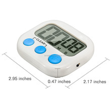 2.9 Inch LCD Big Screen AAA Battery Countdown 4 Color Digital Kitchen Timer