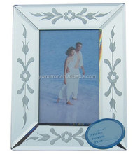 HWM80071 venetian style rectangle mirrored photo frame for home decorative