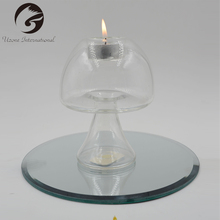 China Manufacture Clear Heat Resistant Glass Candle Holder