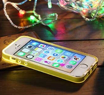 Rock TPU Incoming Call LED Blink Transparent Back Case Cover for iPhone 5 6 6s Plus 5.5inch