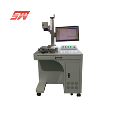 Double head mopa 20w 30w fiber laser marking machine