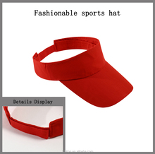 Wholesale fashionable sports cap customized polyester & cotton visor cap baseball sports <strong>hat</strong>