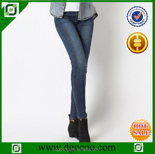 Ocoo Top design fashion OEM service slim fit mid waist washed jeans for women