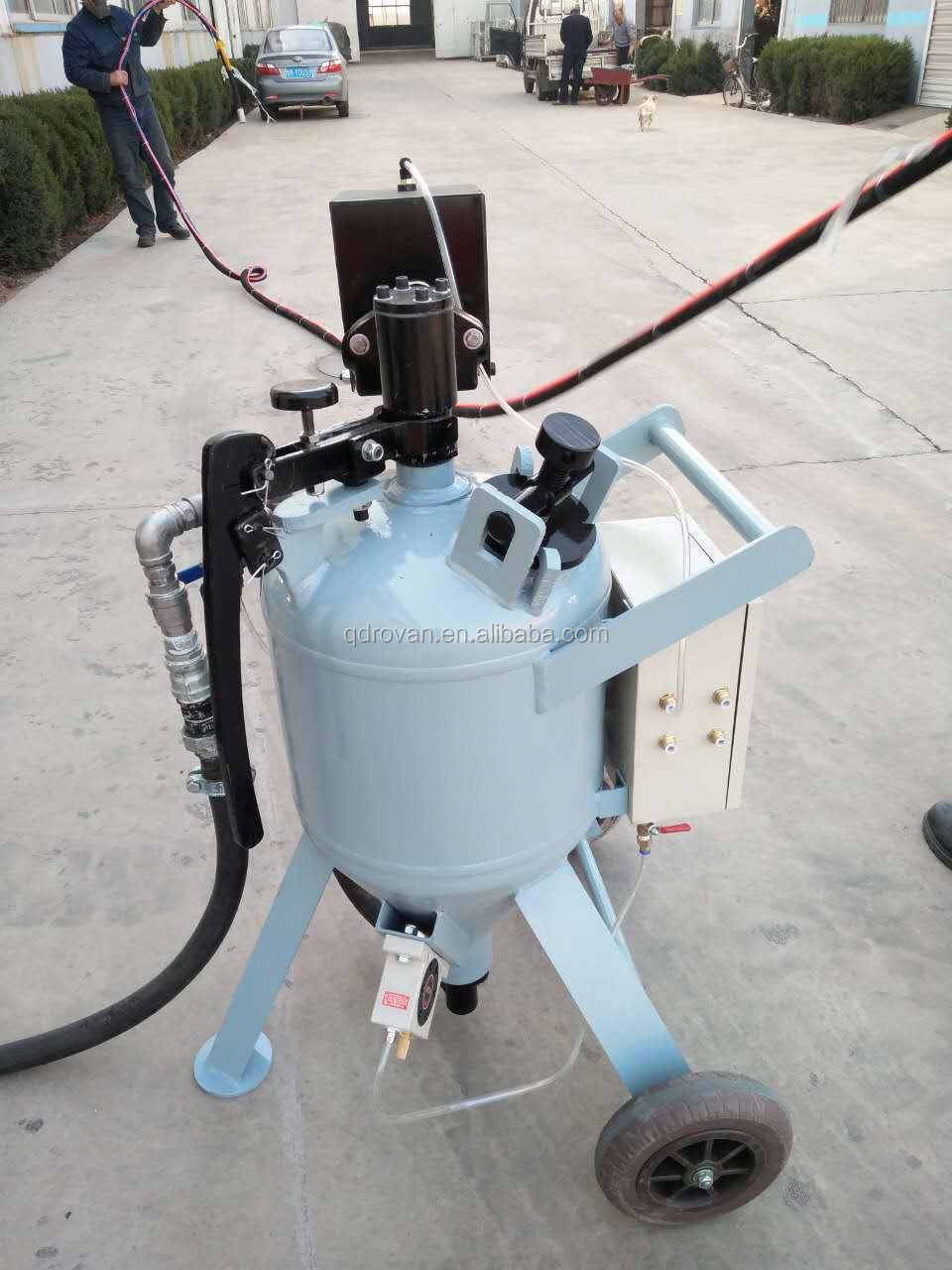 Mobile sand blasting machine, hot sale outdoor DB series sand cleaner