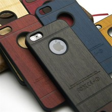 Luxury Fashional Shockproof PC Hard Plastic Wood Wooden Back Cover Case for iPhone 5