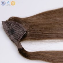 Russian human remy hair extension fake hair ponytail