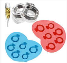 Creative diamond ring shaped silicone ice cube tray ice maker