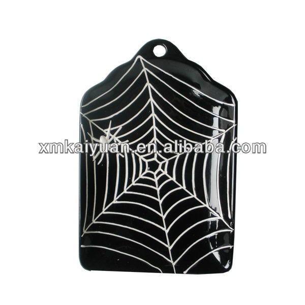 Wholesale bulk custome Halloween decorative ceramic plate