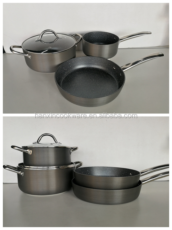 2017 Popular Aluminum hard anodized cookware with LFGB BSCI FDA Certification