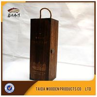 direct sell Advanced customization fancy design single bottle wooden Wine Box