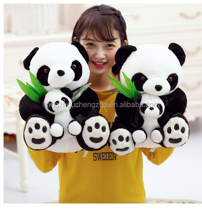 50cm Height Plush Panda Doll , 2016 Custom cheap soft stuffed panda plush toy