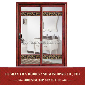 china supplier interior frosted glass aluminum sliding doors for bathrooms