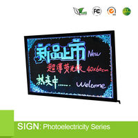 outdoor led neon writing board led advertising