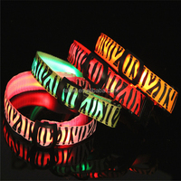 Best quality of led dog collar led pet collar dog collar leopard pattern mix colors and XS S M L XL size led dog leashTB012
