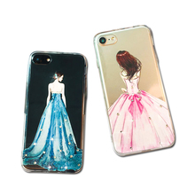 phone case cover Blink Crystal Diamond TPU Case For mobile iPhone series7 5 5s 6s 3d hot beautiful sex gril mobile phone case