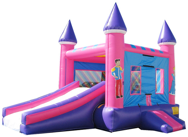 2 in 1 princess  combo inflatable bouncy castle with slide combo for commercial for adults