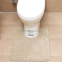 home anti slip custom size color changing cotton bath toilet mats
