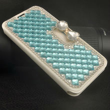 Diamond Leather Cell Phone Case for Samsung Galaxy S5 Mobile Phone Cover