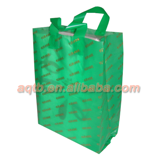 LDPE plastic soft loop handle bag