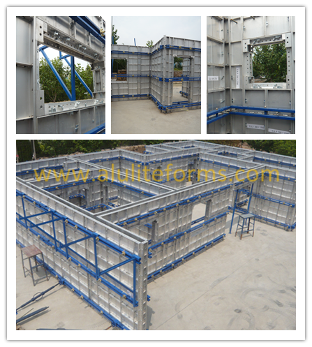 Shear Wall Structure Building Materials Aluminium Formwork Panel